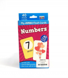 40 Pcs Pack Numbers Flash Cards