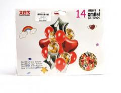 14 Pcs Pack PARTY BALLOONS Heart Star Balloon