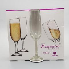 CHAMPAGNE FLUTES GLASS (3 PCS *215 ML SET)