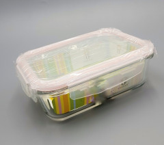 Glass Food Containers - Airtight Storage with Snap Locking Lids