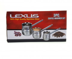 3 Pcs Coffee Warmer Set High Quality Stainless Steel