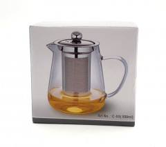 Glass Teapot set with Stainless Steel Filter