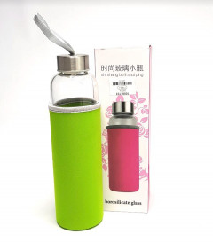 borosilicate glass tumbler water bottle with insulation cloth
