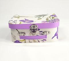 Purple Floral Pattern Decorative Paperboard Box