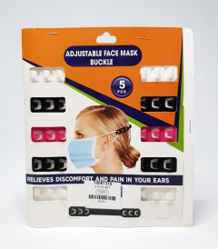 EAR SAVER, 5 FACE MASK EXTENDERS, SOFT SILICONE NECK STRAP, EAR PAIN RELIEF, ESSENTIAL