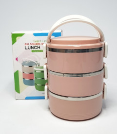 THREE LAYERS BIG SQUARE BUCKLE LUNCH BOX
