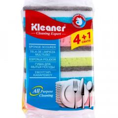 Kleaner Non-Scratch Sponge Scourer, Dual-Sided Dishwashing Sponge for All purpose Cleaning 5 Pcs