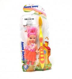 2 Pcs set Toothbrush whit Doll for girls