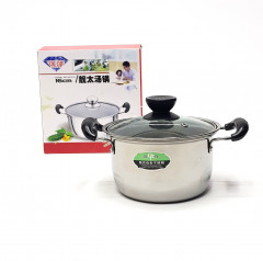 Stainless Steel 16cm Binaural Soup Pot