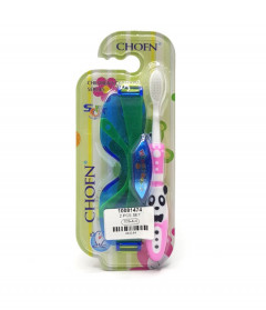 Children's toothbrush with glasses