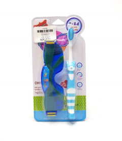 2 Pcs Set Children's toothbrush with Glasses