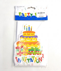 6 Pcs Invitation Card Pack Of 1