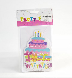 6Pcs Party Fun Invitation Card Pack