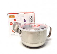 Stainless Steel Food  Bowl With Handle Rice Food Container Soup Bowl Instant Noodle Bowl Bowl With Lids