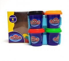 4 Pcs Color Dough