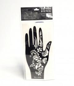 1 Paar (2 Stuks) Henna Hand Tattoo Stencil