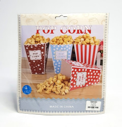 Set of 4Pcs Popcorn Snack for Birthday Christening Party Baby Shower Party