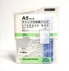 20-Piece Storage Bag With Zipper Set Clear