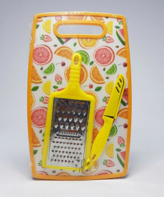 Chopping Board With Knife And Peeler/Plastic Chopping Board/Cutting Board/Vegetable Chopping Board