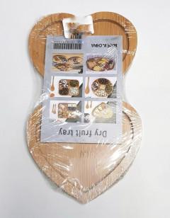 Bamboo Serving Platter, Double Heart