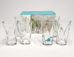 Aqua Glass Rhombus Model