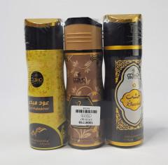 Body Spray- Pack of 3-Oud Mubakhar, Khashab