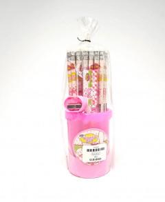 50pcs of pencil set with Ruler Scissor Eraser sharpener for Kids School Pack