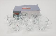 6 PCS GLASS TEA CUP SET - 155ML