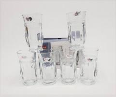 6 PCS CRYSTAL GLASSWARE SET
