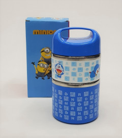 Cartoon Printed 2 Layer Steel Lunch Box For Kids