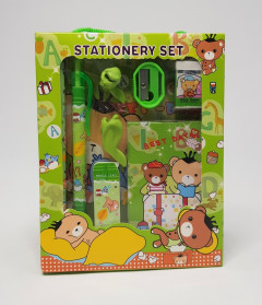 1set Cartoon Kawaii Pencil Ruler Earser Sharpener 6 In 1 Stationery Set For Boy Girls Kids Gift School Children Student