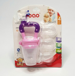 New Baby Food Feeder Soother Teether for Eating Fresh Fruit Vegetables Meat ( Extra 3 Nipple )
