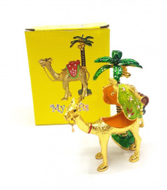 Camel with Tree Handmade Small Jewelry Box Home Decorative Metal Crafts