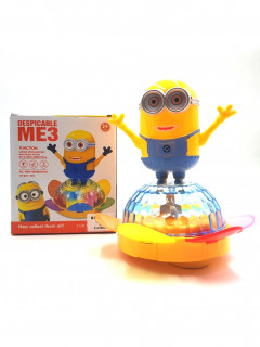 Spinning Minion with 4D Light and Music, Battery Operated Toy