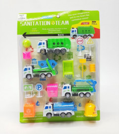 Construction Truck Toy Play Set For Kids Truck Toys for Kids Garbage Truck Toy