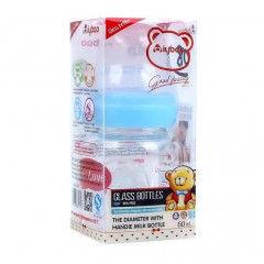 Iybao Glass Feeding Bottle 60ml - Blue (GB-04)