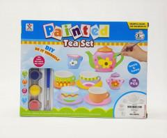 Ceramic Tea Sets For Paintings Kids - 15 PCS