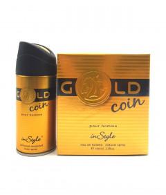 Gold Coin eau de Toilette Natural Spray 100 ML With Perfumed Deodorant Body Spray