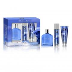 Gift Set Sport Blue Perfume Kit + Shower Gel + Body Spray