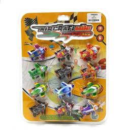 12 Pcs Mini Plane Pull-back Style Educational Toy