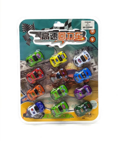 Pull Back Car 12 Pack Set of Toy Cars Party Favor Mini Toy Cars Set for Boys Kids Child Birthday Play Plastic Vehicle Set