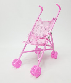 Kids Simulation Baby Girls Role Play Baby Play House Iron Stroller Toys Trolley 24 * 35 * 50cm