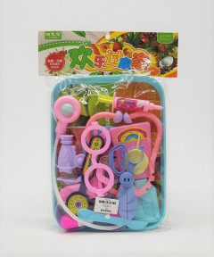 Doctor Nurse (Pink/Purple) Medical Kit Playset for Kids - Pretend Play Tools Toy Set