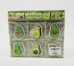 30 Pcs Avocado Eraser Design
