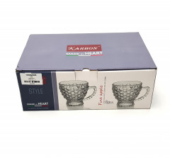 A Set Of 6 Pcs Glass Tea Cup 200 ml