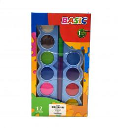 12 Colours Opaque Watercolor Paint Set