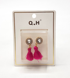 Thread Earrings With Stone