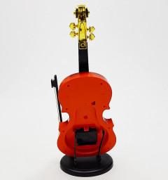 Plastic Alarm Clock Portable Violin Design Ornaments Clock Gift Student Home Decor
