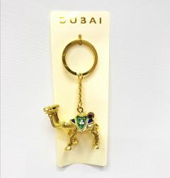 souvenir zinc alloy golden camel keychain