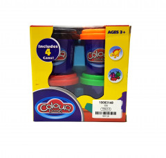 4 Pcs Set Of Colour Dough Cans
